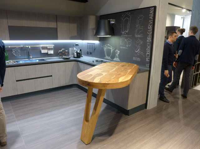Tables integrated into space and design