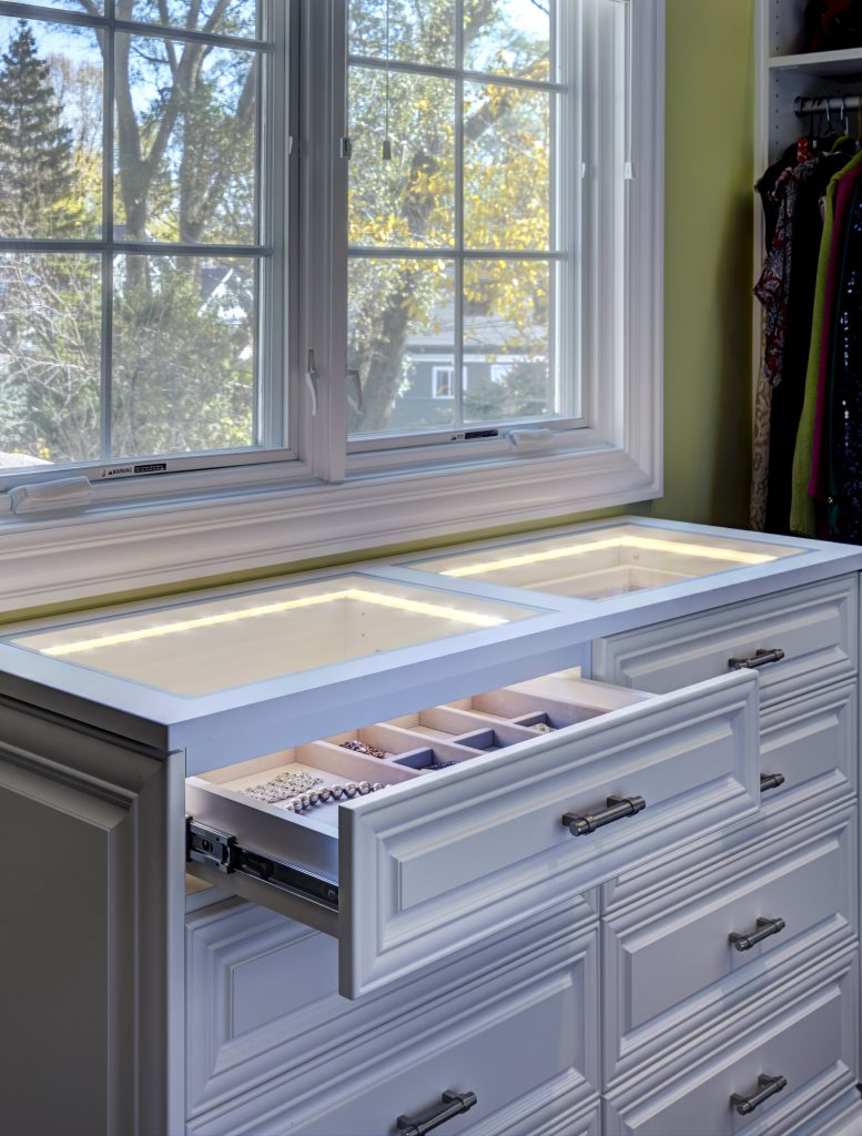 Lighted Jewelry Drawers
